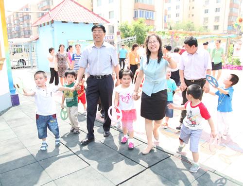 北京王子岛英语幼儿园进行慰问