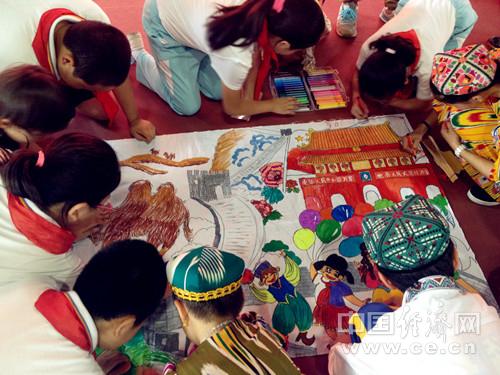 """们美丽的祖国""""为主题,共绘一幅画.-北京妇女网"""
